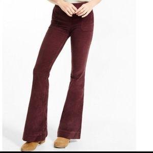 Express Flare Leg Corduroy Jeans sz. 6 Brown